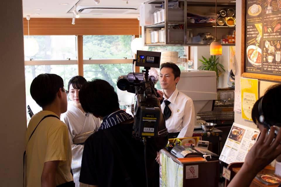MROで放送予定の「きもの・ゆかたが似合うまち金沢。」に取材いただきました